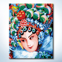 beijing painting - Beijing Opera actor Wall Art DIY Painting Baby Toys x50cm Educational Canvas Oil Painting Drawing Wall Art for Home