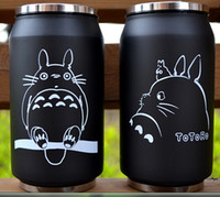 anime mugs - 2016 cartoon vacuum thermos mug my neighbor totoro can of cola stainless steel anime figures cup with Japanese hayao miyazaki design