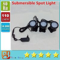Cheap Free Shipping Hot Sale 3 in1 4.5W 36LED Submersible Spot Light blue white colors Aquarium Pool decoration Lamp Underwater
