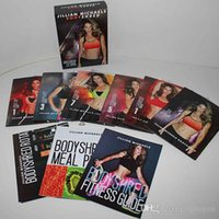 Wholesale Jillian Michaels BODYSHRED Workout DVD Base Kit BONUS DVD DVD INCLUDED Fitness workout BRAND VS Master s Hammer and Chisel DHL Free