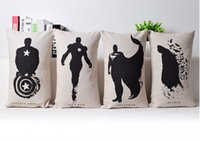 alliance travel - Black Ink Avengers Alliance American Heroes Art Decorative Pillow Case Cover Euro Pillows Travel Emoji Home Decor Vintage Gift