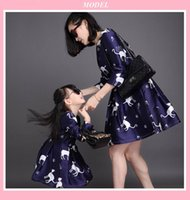 Wholesale New fashion Hot sale mother daughter dresses women wedding dress family matching clothes girls princess dresses