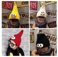 big bird cap - Newest Fashion Children s Cartoon Big Eyes Bird Wool Knitted Hat Winter Fashion Personality Pointy Cap Warm Hat Christmas Gifts Hats