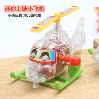 army toy shop - New creative chain clockwork transparent mini aircraft children s educational toys gift shop goods