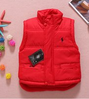 Wholesale 2016 European and American men and foreign trade vest Spring burst models children vest coat thick cotton children s clothing