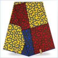 Wholesale Elegant pattern African prints super wax fabric for fashion dress