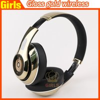 Wholesale High Quality Used Beats Studio Gloss Gold Limited Edition Headphones with retail box full sealed AAA quality