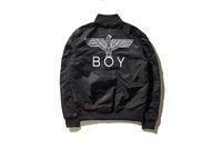 baseball turtleneck - winter Boy london Men women Eagle embroidery casual Baseball high grade jackets fashion zipper coats outerwear black