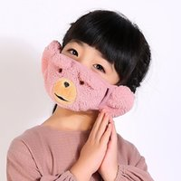 Wholesale Children combo ear cartoon warm winter child thicker child protection ear mask