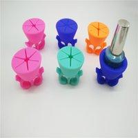 Wholesale 100pcs Hot Nail Polish Holder Ring Flexible Wearable Polish Bottle Holder For Women Girls Assorted Color