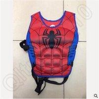Wholesale 120pcsc CCA3721 Baby Life Jacket Vest Batman Superman Spiderman Princess KT Mickey Drifting Vest Catoon Kids Life Vest Rafting Life Jackets