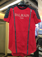 Wholesale Casual Cotton Balmain Men T Shirts Male Tops Tees Robin T Shirt Homme Paris Balmai Short Sleeve T Shirt Men s T Shirts Balmain Jeans Clothe