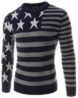 Wholesale 2016 New Fit Sweater Full Sleeve Casual Pullovers Stars Pattern Style Full Slleve Men Jerseys Hot Sale H7733
