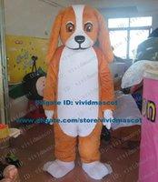 basset dogs - Happy Brown Cocker Spaniel Basset Hound Dachshund Dog Puppy Pup Doggie Mascot Costume Cartoon Character Mascotte Adult NO