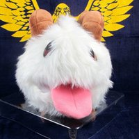 anime white rabbit - Anime Cartoon League of Legends LOL Poro Rabbit Plush Toys quot CM Soft Stuffed Dolls
