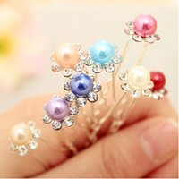 Wholesale 7mm Imitation Pearl Hair Pin Wedding Fashion Alloy Hair Clips Lady Hair Jewelry Hairpin