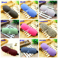 Wholesale 10pcs sofe and comfortable Blindfold Sleeping Travel Rest Soft D Eye Mask Shade Nap Cover Christmas gift colors