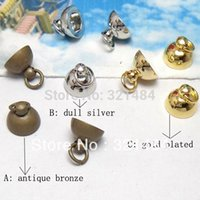 antique vials - Antique bronze Dull sliver Gold Plated pc inner mm outer mm w Loop Pendant Bead Cap Bail Connectors for Glass Vials DIY