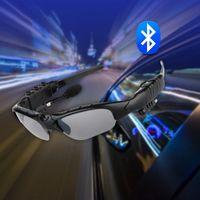 Wholesale Sports Stereo Wireless Bluetooth smart glasses headset Telephone Polarized Driving Sunglasses mp3 Riding Eyes Glasses