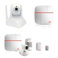 auto audio systems - WIFI GSM home dual network security alarm system Vcare Kits B Android IOS App One key SOS alarm with two way audio ip camera
