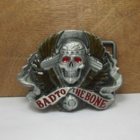 Costume Accessories bad companies - Bad to the boneSkull Head belt buckles unique Silver belt buckle Texas Western Buckle Retail company Belt Clothing