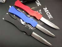 Wholesale 100 Genuine High End Custom Microtech HALO IV Prototype Rev II S N ELMAX Blade Material T6 Aluminum Handle Camping Hunting Knife