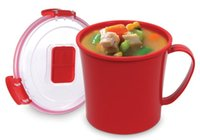 Wholesale 656 ml Soup Mugs Microwaveable Containers Soup Cup Steam Release Vent BPA Free Microwave Cooking Tools