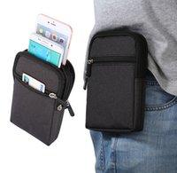 belt pen holder - New Cowboy Cloth Phone Pouch Belt Clip Bag for Samsung J5 J7 J5 J3 J1 Case with Pen Holder Waist Bag Outdoor Sport Phone Cover