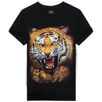 Wholesale 2016 New Fashion Men s Print Tiger Cotton Brand T Shirt Men D Tshirt Clothes Animal Causul T Shirts