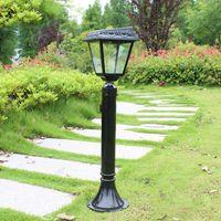 aluminum lamp pole - Outdoor waterproof aluminum solar lawn lamp garden lamp pole villa road light backyard decoration landscape lighting WCS OLL0019