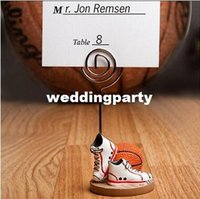 basketball party themes - wedding party decoration Basketball or football Themed shoes Place name Card Holders Sport Theme