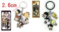Wholesale Classic Anime Attack on Titan Keychains Metal Figures Pendants Charms Key Ring