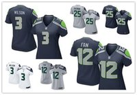 authentic russell wilson jersey - 2016 hot sale women football Jerseys Russell Wilson Seattle jerseys Seahawks elite game authentic football shirt size S XL
