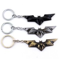 batman zinc ring - New Design Marvel Super Hero Batman Keychain Metal Pendant Key Chain Chaveiro Key Ring Size cm