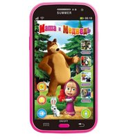 baby bear phone - Talking Masha and Bear Dolls Phone Learning Education Russian Language Baby Mobilephone Electronic Kid s Toys Phone