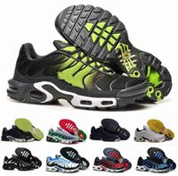 Wholesale Max TN Running Shoes Men WHITE BLACK Casual Shoes Outdoor Fashion Sports Shoes Mesh Tn Shoes