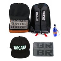 Wholesale JDM BRIDE BLACK SPARCO HARNESS BACKPACK DRIFT BAG pc Wallet Hat keychain