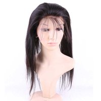 band lace front wig - Natural Straight Brazilian Virgin Hair Elastic Band Lace Frontal Closure quot quot Band Lace Frontal Closure