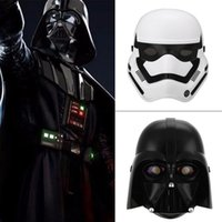 Wholesale Star Wars LED Light Stormtrooper Darth Vader Mask Helmet Costume Halloween Masquerade