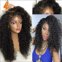 Wholesale Fashion Kinky Afro Wigs Full Lace Human Hair Wigs For Black Women Brazilian Kinky Curly Lace Front Wigs