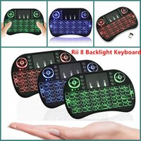 Wholesale New Fly Air Mouse G Mini I8 Wireless Keyboard With Backlight Red Green Blue Remote Controlers For MXQ M8S