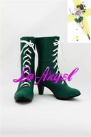 Wholesale Anime Sailor Moon Kino Makoto Sailor Jupiter Cosplay Party Shoes Green Boots Customized Size