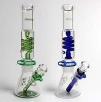 Illadelph Mini Freezable Tube de bobine 7MM bécher bongs en bas tube en verre d'eau concentré pipe bubbler narguilés fumeux heady livraison gratuite