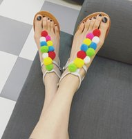 band sugar - Sugar fruit color Maomao pinch flat sandals buckle shoes are sweet air