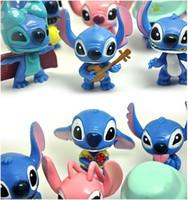 Wholesale 10pcs set Cartoon Anime Stitch cm Toy Figures Fashion PVC Robot Action Figure Collectible Model Kids Toys