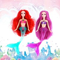 Wholesale Hot Kids cm High Electronic Musical Mermaid Suit Dolls Ariel Dolls Kids Girls Birthday Toys Cartoon Dolls Top Quality