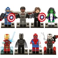 america super - Captain America Civil War Marvel Super heroes Minifigures Hulk Black Panther War Machine Mini Figures building blocks toys bricks X0114