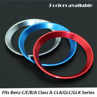 Wholesale For Mercedes Benz New B C E Class A Class C200L GLC GLK New CLA GLA Aluminium alloy Steering wheel logo sticker decoration ring cm