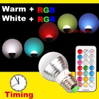 led rgb remote bulb 5w - New Arrival RGBW RGBWW E27 E14 B22 Led Bulbs Light W Colorful Lamp For Christmas KTV Lighting KEYs IR Remote Control
