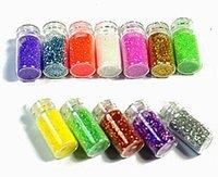 Wholesale 1 set Color Nail Glitter Powder Dust D Nail Art Decoration Nail Art Bottle Tip Set FM031